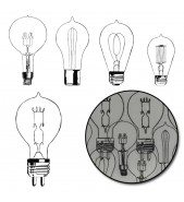 Maya Road Diecut Transparencies LIGHT BULBS